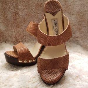 Jimmy Choo authentic chunk heels